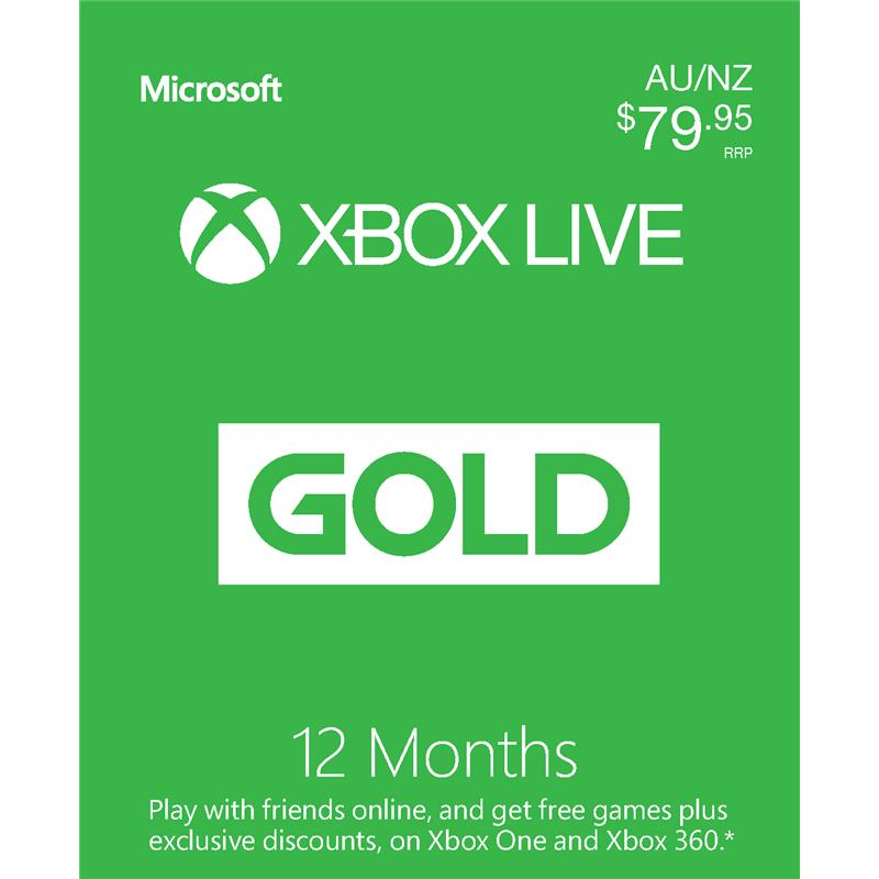 Xbox Live Gold 12 Month Subscription [Digital Download]
