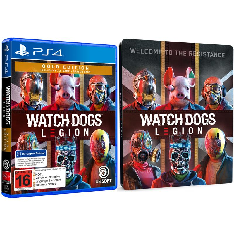 Watch Dogs Legion Gold Steelbook Edition Playstation 4 Jb Hi Fi